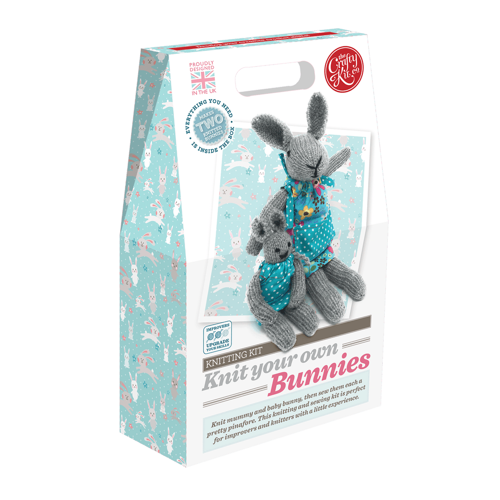 The Crafty Kit Company Knit your own Bunnies Kit Box