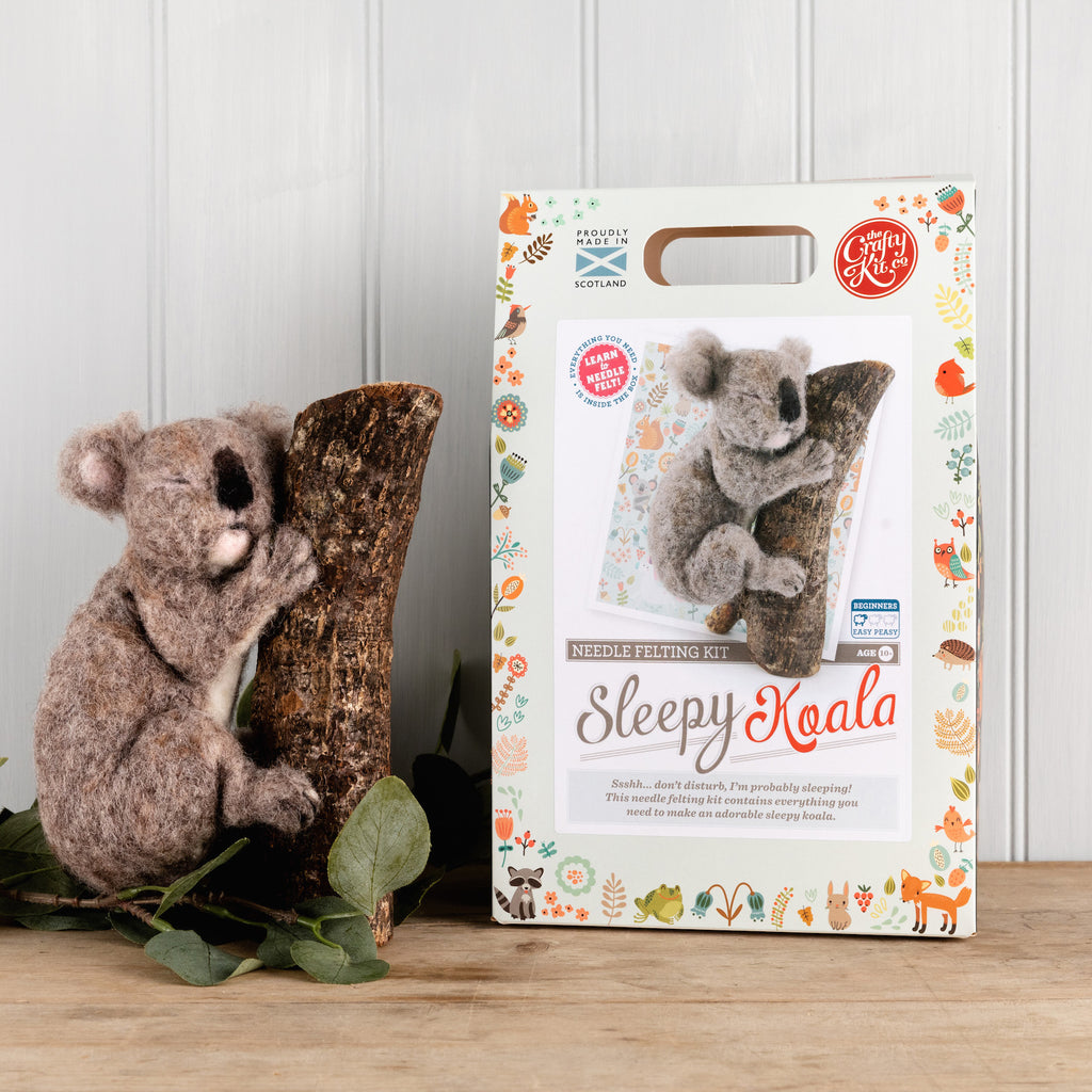 The Crafty Kit Company Sleepy Koala Needle Felting Kit  and Box