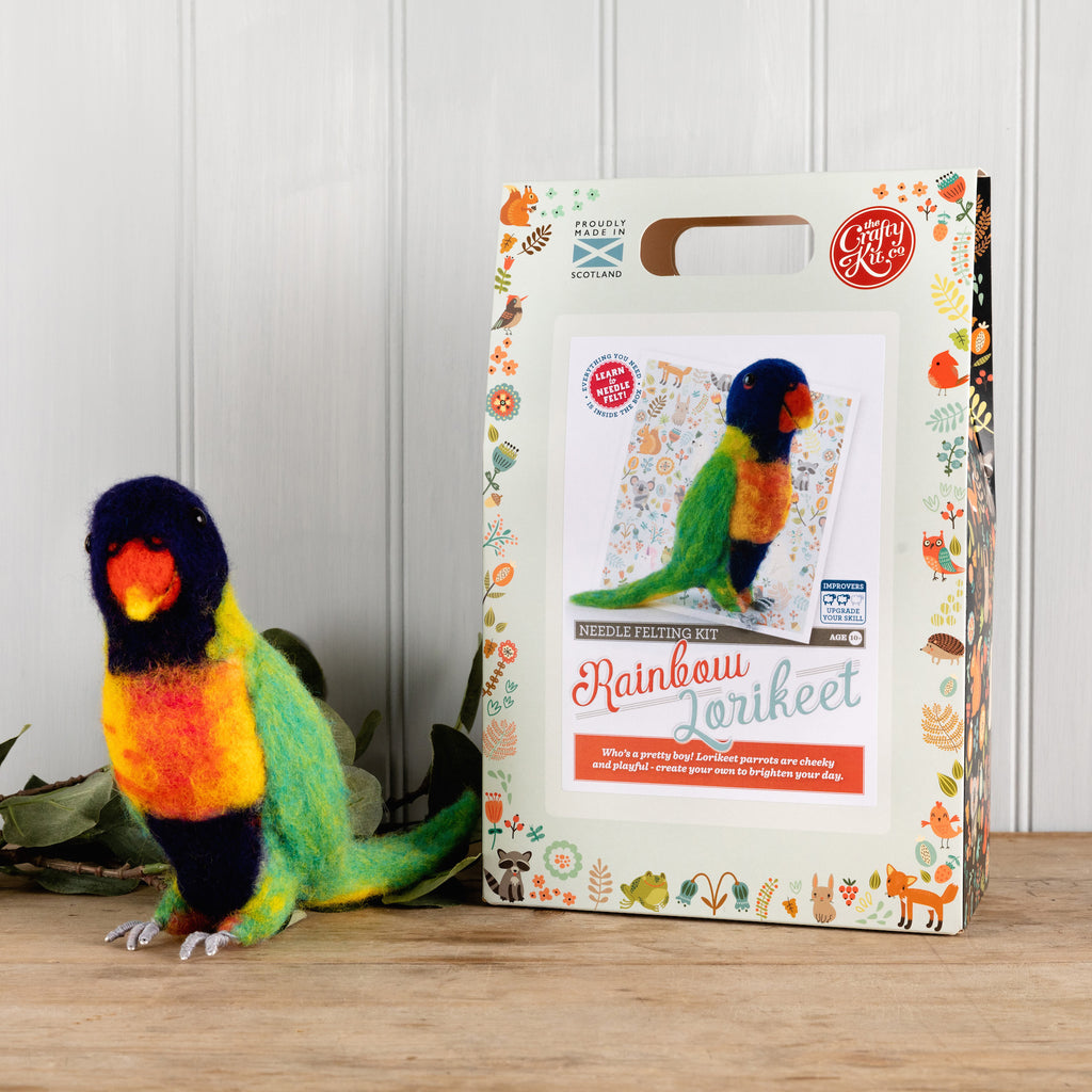 The Crafty Kit Company Rainbow Lorikeet Needle Felting Kit