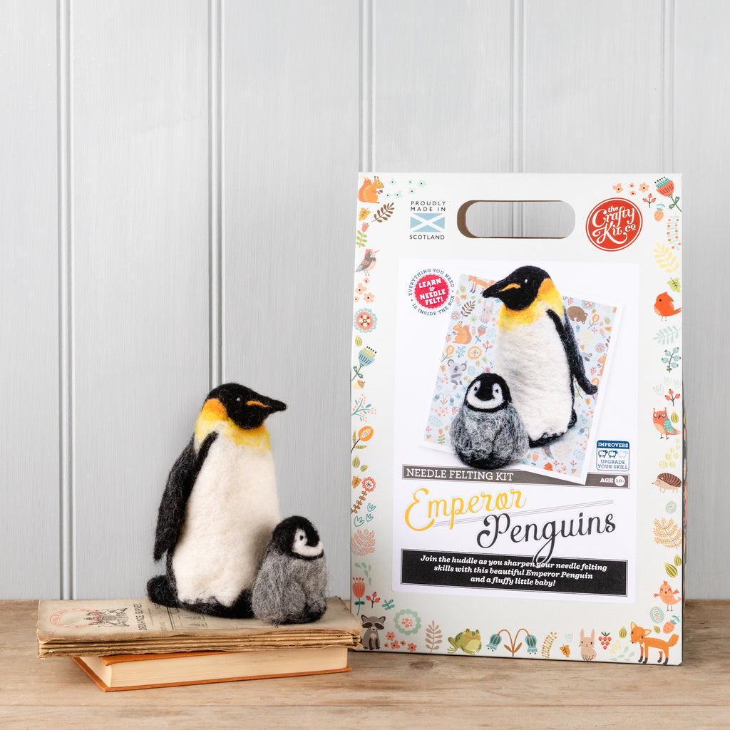 The Crafty Kit Company Emperor Penguins Needle Felting Kit