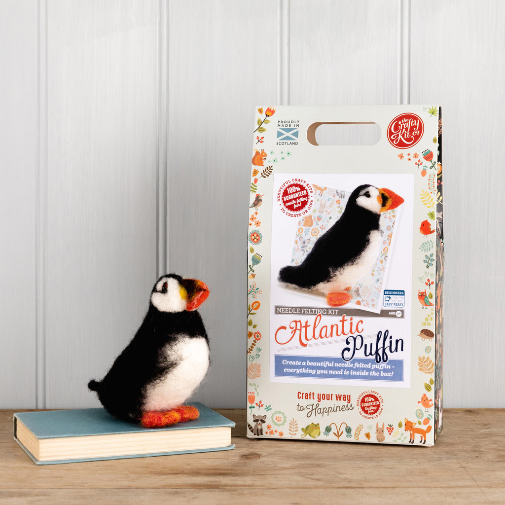The Crafty Kit Company Atlantic Puffin Needle Felting Kit