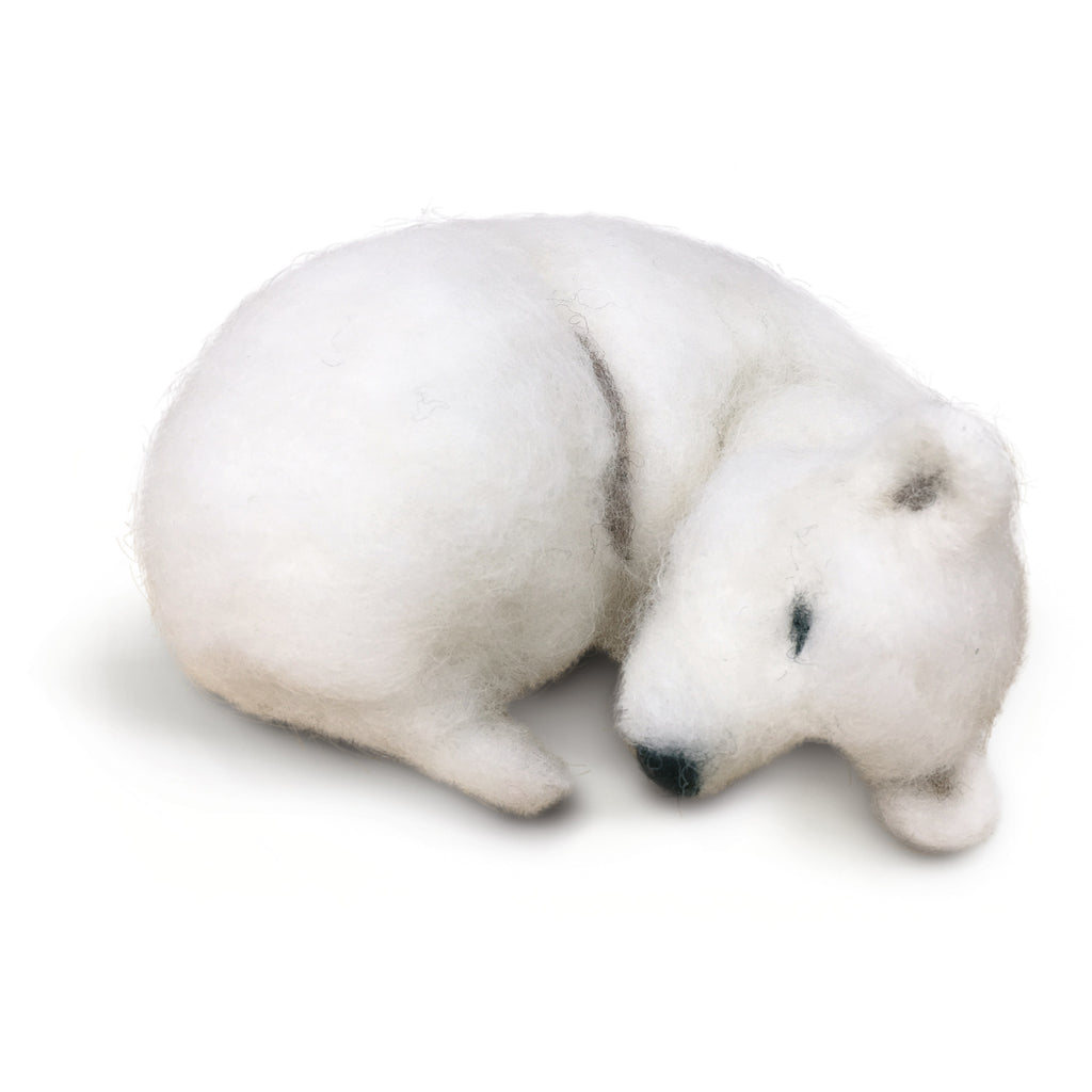 The Crafty Kit Company Snoozy Polar Bear Needle Felting Kit