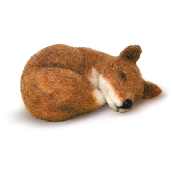 The Crafty Kit Company Sleepy Fox Needle Felting Kit