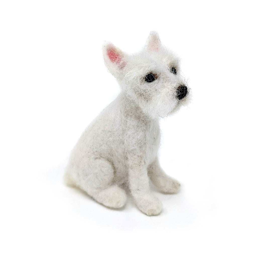 The Crafty Kit Company Dinky Dogs Westie Needle Felting Kit