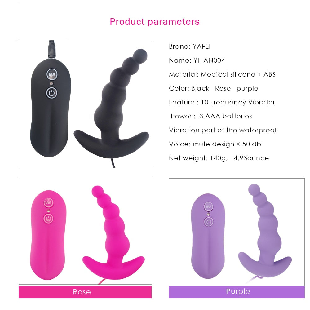 10 Speed Anal Beads Vibrator