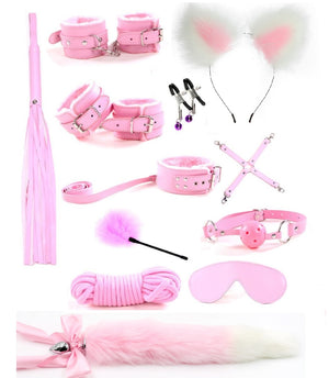 10/12PC Cute Metal Fox Bondage Set