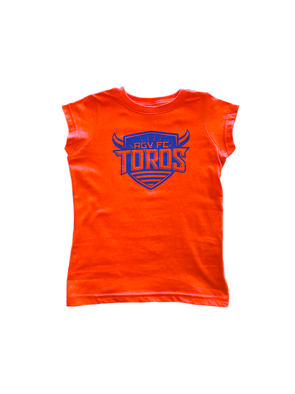 Toddler Girl Orange w/ royal crest