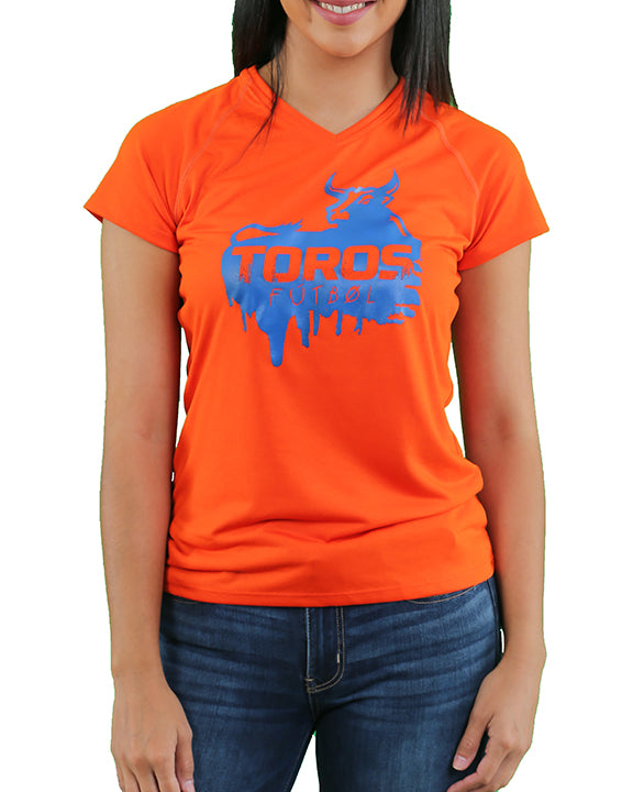 Women's Adidas Climalite V-Neck | Orange