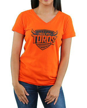 Women's V-Neck Tee | Orange