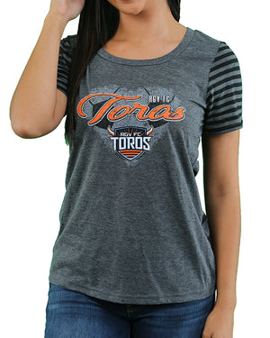 Women's Striped Tee | Grey