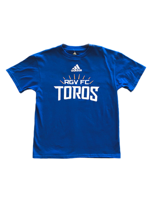 Youth Adidas Royal Wordmark Tee