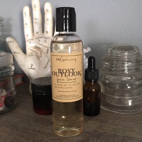 ROSY  OUTLOOK TONER  •  rose and green tea face toner with niacinimide