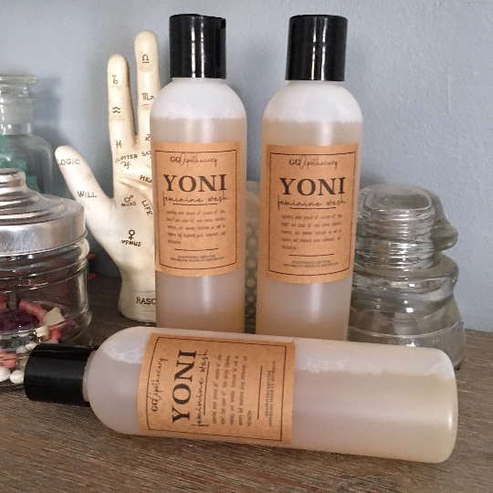 YONI • herbal feminine wash with sweet almond, shea and a blend of organic hydrosols and teas •