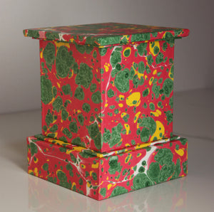 "Pedestal or Plinth - 5 1/2"" handmade, marbled"