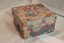 Load image into Gallery viewer, Rustic, marbled papier-mâché box - Small - Various colours