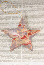 Load image into Gallery viewer, Marbled papier-mâché 5 point, 5 inch stars - various colour options