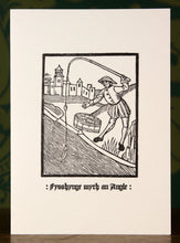 Load image into Gallery viewer, Fishing with an Angle - hand-printed letterpress card