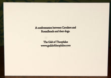 Load image into Gallery viewer, Cavalier and Roundhead dogs - hand-printed letterpress card