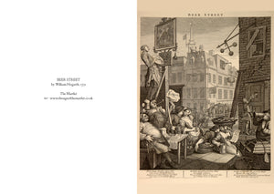William Hogarth 'Beer Street' greetings card