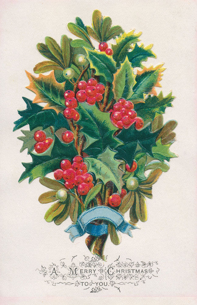 Christmas Card Pack - Victorian Holly Wreath