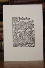 Load image into Gallery viewer, Woodcut Husbondrye 1525 -  Hand printed letterpress card