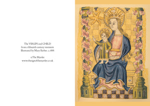 Virgin and Child Medieval Greetings Card