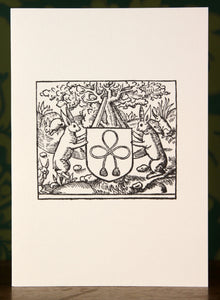 French Rabbits - Hand-printed letterpress card
