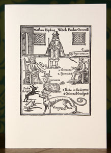 The Witch Finder General - hand-printed letterpress card