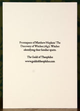 Load image into Gallery viewer, The Witch Finder General - hand-printed letterpress card