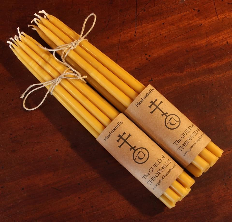 Beeswax Orthodox Votive Candles - 12 x 1/4 inch - pack of 100