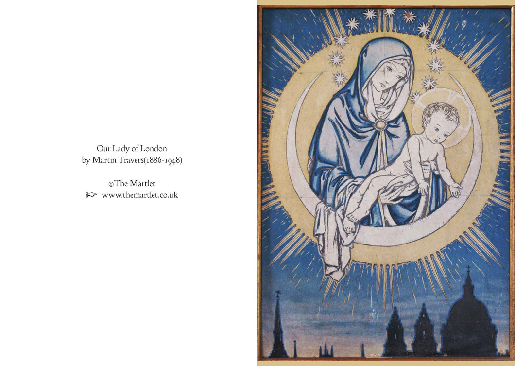 Our Lady of London by Martin Travers - Greetings card