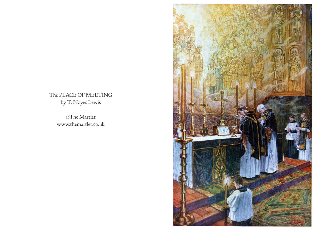 The Place of Meeting by Noyes Lewis greetings card