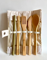 "BAMBOO ""To go"" cutlery set"
