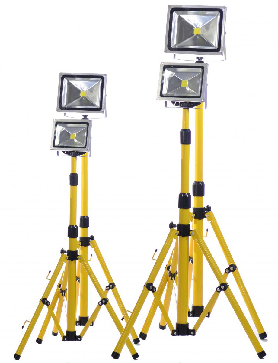 LED Flood Light Extra low voltage temporary lighting, safe, quick to install, plug in construction lighting