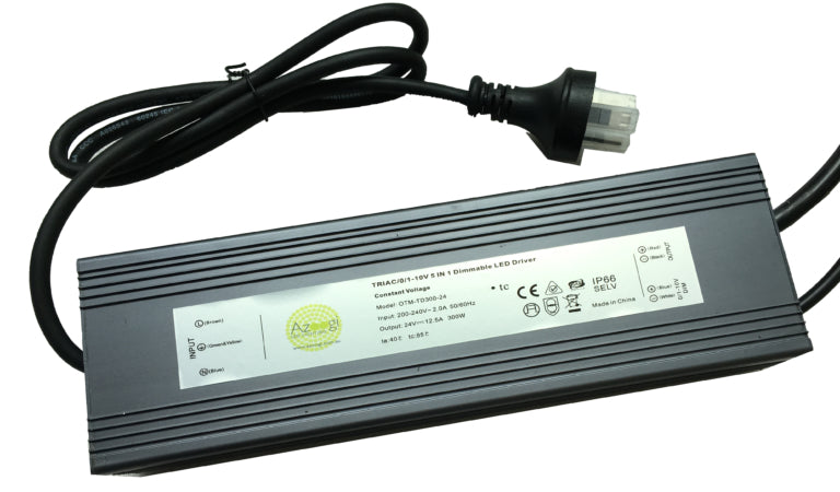ADR015D – 300W Waterproof Azoogi 5 in 1 Dimmable Driver 12V. IP67. Azoogi.