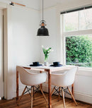 ALTA: Bell with Copper Highlight Pendant lights