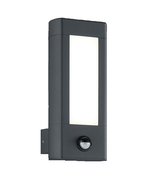 AMUN1S: Exterior LED Sensor Surface Mounted Wall Light. 3000K 10W