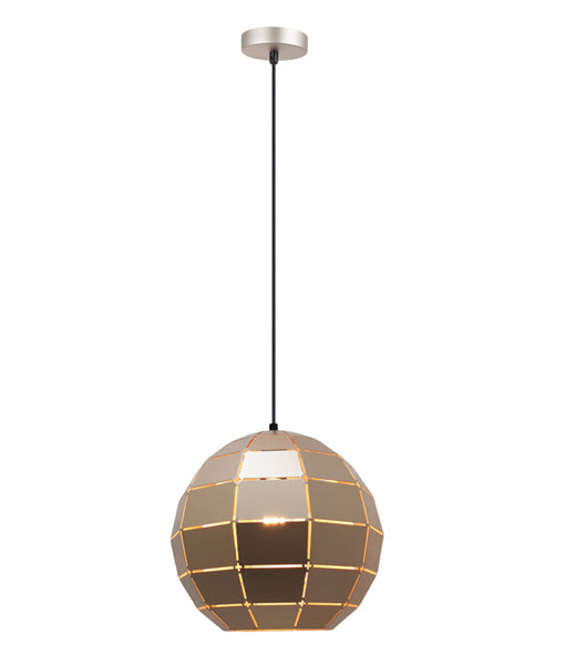 ARMIS2: Interior single pendant light. ES Lamp. 72W Champagne Gold Tiled Wine Glass OD300mm x H270mm 3m cable. CLA Lighting.