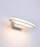 ATHENSG2: Interior surface mounted LED matt white oval 1 way wall lamp/light. 6W 120D 3000K IP20 (460 lumens). CLA Lighting.