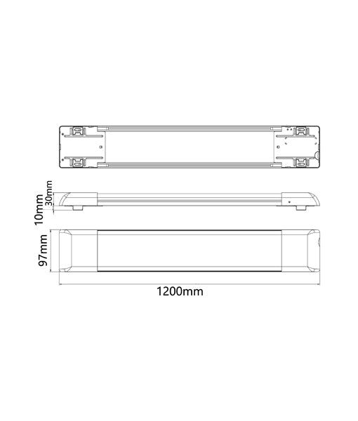 BATTENS001: LED Surface Mounted Batten(4FT) with inbuilt sensor