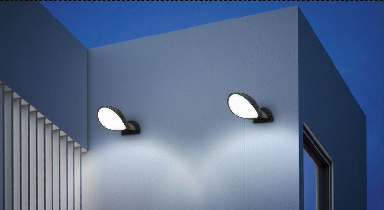 Bocina: Exterior LED Surface Mounted Semicircle Wall Lights