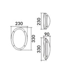BULK: LED Bulkhead Lights(Oval)