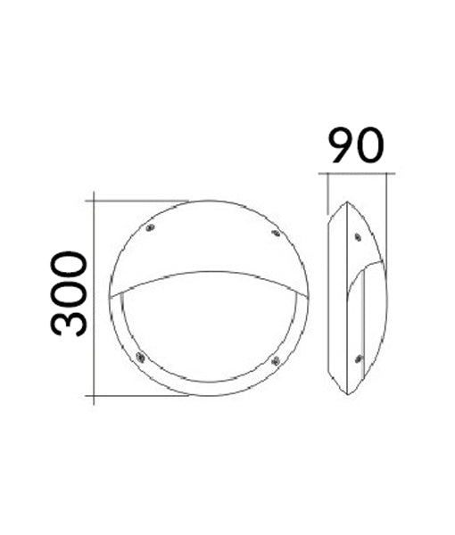BULK: Eyelid LED Bulkhead Lights(Round)