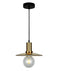 CHAPEAU2: Interior PENDANT ES 72W Amber Glass Coolie with Antique Brass Highlight. CLA Lighting