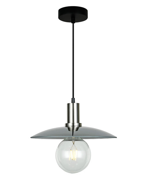 CHAPEAU3: Interior PENDANT ES 72W Smoke Glass Coolie with S/C Highlight. CLA Lighting