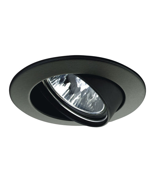Matt Black GU10/MR16 Downlight Recessed Gimbal Fittings. CLADL23B, CLADL24B, CLAZ23B, CLAZ24B
