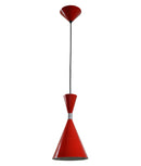 CLASSIC1: Interior single pendant light. ES 40W RED CONE OD160mm x L300mm 3m cable. CLA Lighting