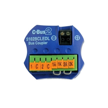 5102BCLEDL: Clipsal C-Bus Coupler Input Unit, 2 Channel Bus Coupler, Remote LED Facility