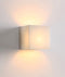 CUBO7: Exterior Cube LED surface mounted up/down wall light. Natural Alabaster Frosted Glass Diffuser. Warm White