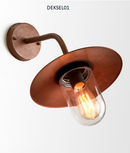 DEKSEL01: Interior/Exterior WALL Light ES Lamp 60W MATT AGED COP CLR Glass IP54. CLA Lighting.